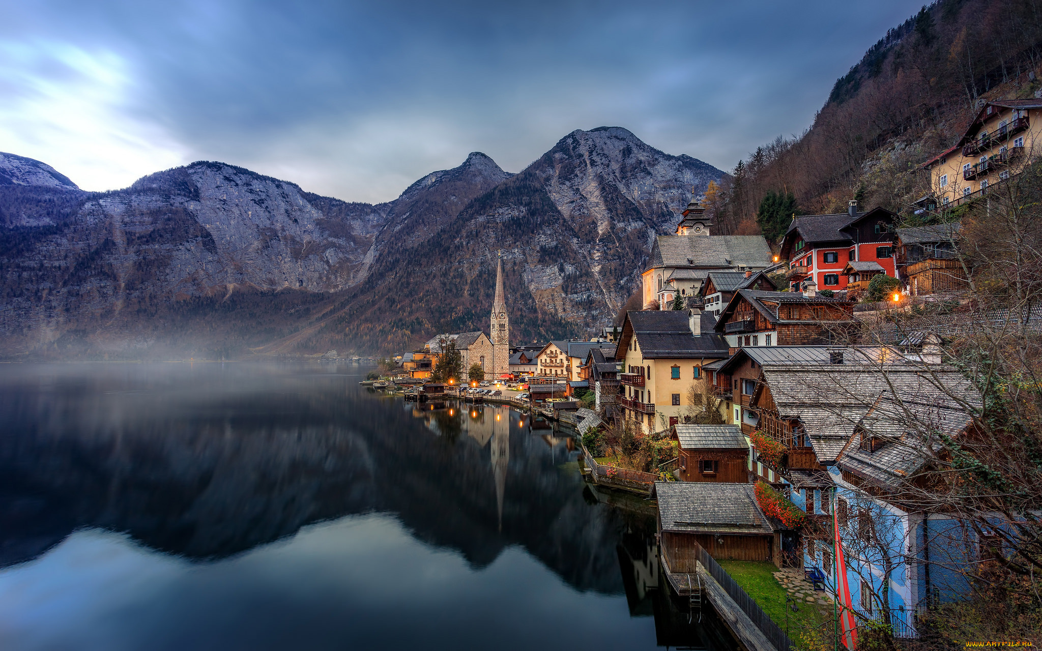Обои австрия, гальштат, городок. Города foto 8